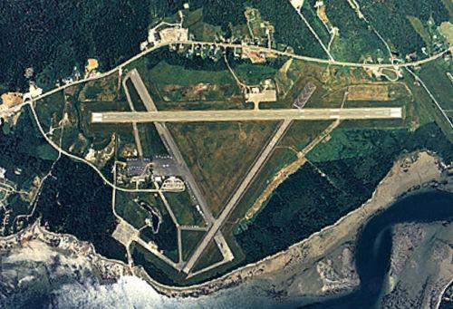 Hancock County Bar Harbor Airport Maine Aerial
