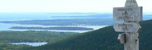 Parkman Mountain Sign Acadia National Park 900