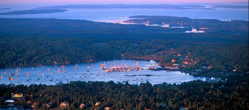 Southwest Harbor Maine Aerial View 486