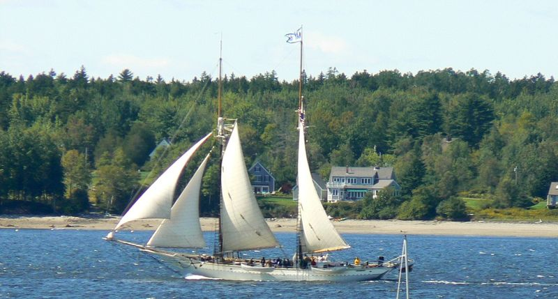 Maine Schooner On Union Bay 1024