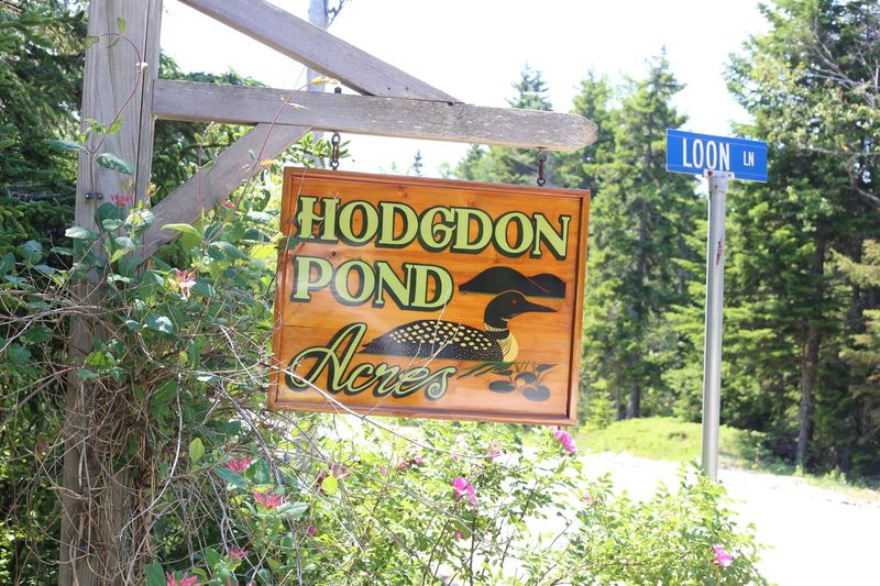 Pine Bluff Hodgdon Poind Seal Cove Maine Sign