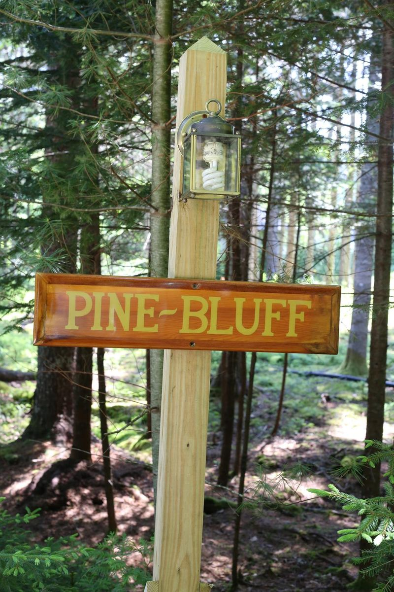 Pine Bluff Hodgdon Pond Seal Cove Maine Small Sign