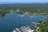 Aerial View of Southwest Harbor Maine