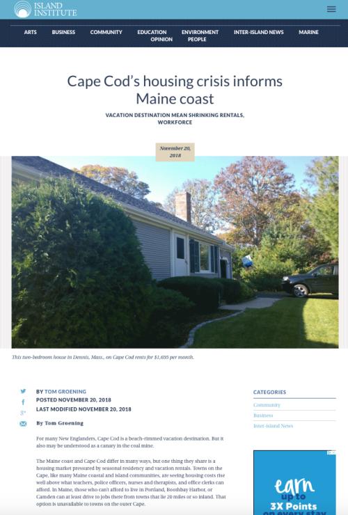 Cape Cod Housing Crisis